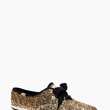Kate Spade Keds For Kate Spade New York Glitter Sneakers Gold Glitter