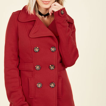 Time-Honored Tendencies Coat in Cardinal | Mod Retro Vintage Coats | ModCloth.com