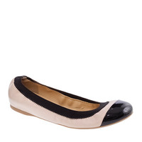 J.Crew Womens Mila Cap Toe Leather Ballet Flats