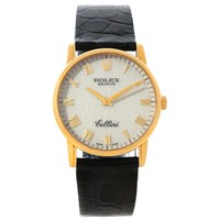 Rolex Cellini Classic 18k Yellow Gold Jubilee Dial Watch 5116