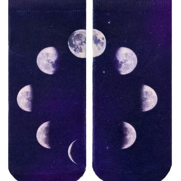 Moon Phases Ankle Socks
