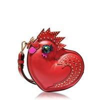 MCM New Year Series Rooster Ruby Red Leather Crossbody