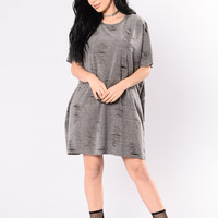Under A Lot Of Distress Tunic - Grey