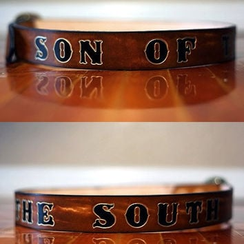 Mens Personalized Leather Belt