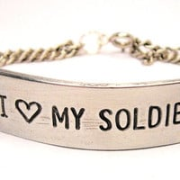 I love my Soldier  Bracelet