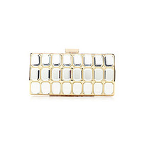 Kate Landry Full Large Jewel Frame Clutch - Gold