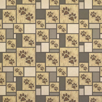 Grungy Pet Paw Prints Kraft Gift Wrapping Paper - No. 2