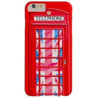 Red British Telephone Booth Barely There iPhone 6 Plus Case