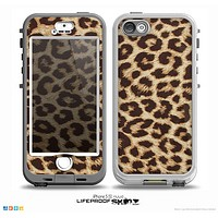 The Simple Vector Cheetah Print Skin for the iPhone 5-5s NUUD LifeProof Case
