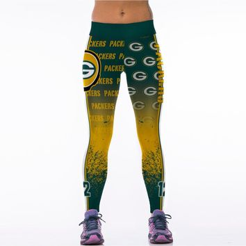 Fashion Green Bay Packers Workout Legging