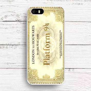 Dhl Hogwarts Train Ticket Harry Potter Inspired Design Slim Hard Plastic Phone Case Cover For iPhone SE 4 4S 5 5S 5C 6 6S 6Plus