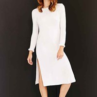 Silence + Noise High-Slit Midi Sweater Dress-
