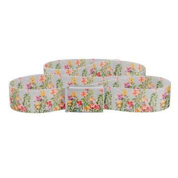 DOG PAW PRINTS FLOWER GARDEN FENCE BELT