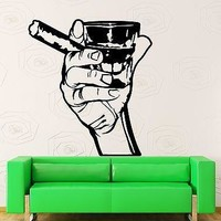 Wall Stickers Vinyl Decal  Men Whiskey Rum Cigar Relaxation Relax Decor Unique Gift (z1211)