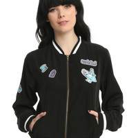 Disney Alice In Wonderland Patched Girls Satin Souvenir Jacket