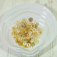 Vintage Variety of Ivory, Bone & Catalin Buttons Collection - Buttons for Repurposing Upscaling Upcycling - 90 Buttons