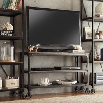 TRIBECCA HOME Nelson Industrial Modern Rustic Console Sofa Table TV Stand - Free Shipping Today - Overstock.com - 15867330 - Mobile