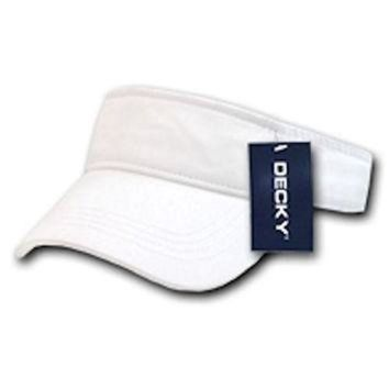 LMFON Ponce Blank Decky Cotton Chino Twill Polo Visor Golf Tennis Sun Caps Hat