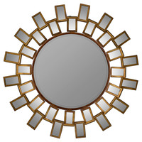 Mirrors, Jeanetta Wall Mirror, Antique Gold, Wall Mirrors