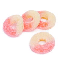 Strawberry Banana Gummy Rings: 4.5LB Bag
