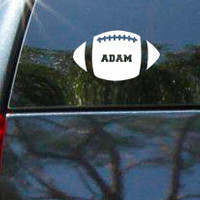 Personalized Football Vinyl Vehicle Decal