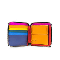 Loewe Rainbow Square Zip Wallet in Metallic Multicolor | FWRD