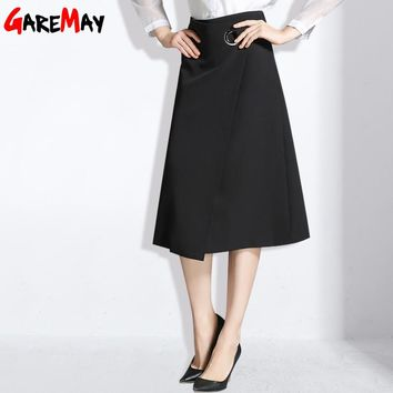 Long Black Skirt For Women Fashion Office Skirts Spring A Line Clothing Elegant Skirt
