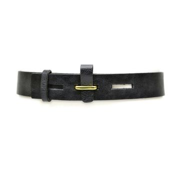 Wide Flap Buckle Belt - Black