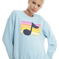 Disney Gravity Falls Mabel Rainbow Music Note Girls Sweatshirt