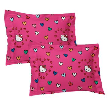 2pc Hello Kitty Pillow Shams Free Time Bedding Accessories