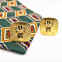 Knights of Columbus Cuff Links, 4th Degree Cuff Links, Gold Tone, Vintage Shirt Accessories