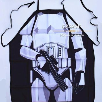 DCCKU7Q funny STAR WARS darth vader White Warrior  Apron