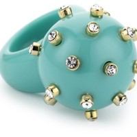 RAIN Turquoise-Color Round Ball Spike Ring, Size 7