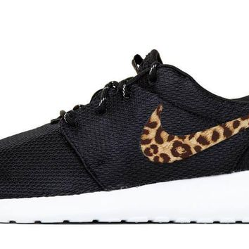 Nike Roshe One + Vinyl Swoosh - Black/White - 7 Options