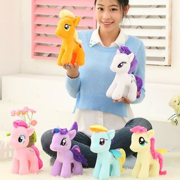 1pc 25cm minecraft my cute lovely little horse toy Plush toys poni Unicorn doll toys for Children Christmas Toys soft dolls D040