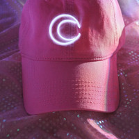 Moon Light Cap, Light Pink Cap, Neon Sign Cap, Light Up Cap, 90s, Sailor Moon, Cyber Angel, Aesthetic, Tumblr, Tears Machine