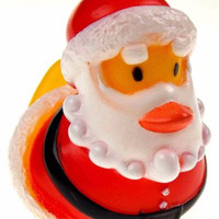 Set 12 Christmas Santa Rubber Ducks Duckie Party Favors Cake Toppers Dozen NEW