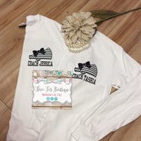 Cheer Coach Shirt. Megaphone with Glitter Bow T-Shirt. Chevron Megaphone Cheer Shirt. Cheer Long Sleeve T-Shirt. Monogrammed Gifts. Cheer.