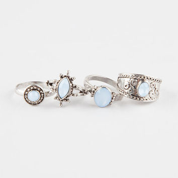 FULL TILT 4 Piece Antique Stone Rings | Rings