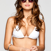 Full Tilt Triangle Bikini Top White  In Sizes