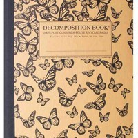 Monarch Migration Decomposition Book: College-ruled Composition Notebook With 100% Post-consumer-waste Recycled Pages