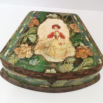 Celluloid Box Victorian Decor Antique Box Victorian by WhimzyThyme