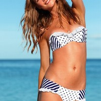Stripe Push-Up Bandeau Top