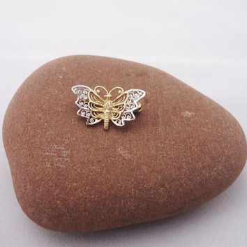 Vintage Sterling silver Butterfly Brooch, Small Sterling Silver Butterfly Brooch, Sterling Silver Butterfly pin