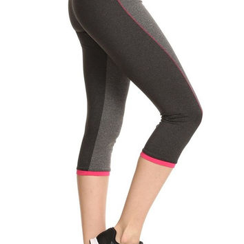 Color Block Sports Leggings - RWL SPORT - Ruffles with Love