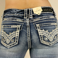 LA Idol Vicke Light Blue Boot Cut Denim Jeans