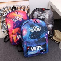"""VANS"" Trending Fashion Sport Laptop Bag Shoulder School Bag Backpack B104497-1 Starry Sky Blue"
