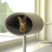 Rondo Stand-Mounted Cat Condo by Rondo Designs, Cat Beds at ThePremiumPet.com