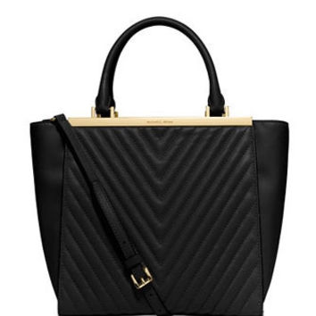Michael Michael Kors Medium Lana Quilted Leather Tote