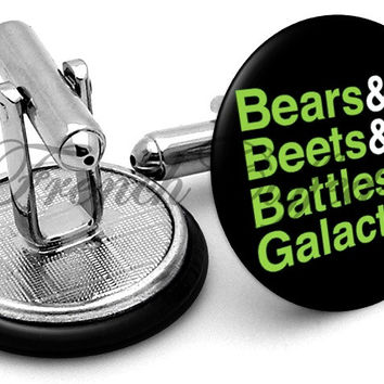 Bears Beets Battlestar Galactica Cufflinks